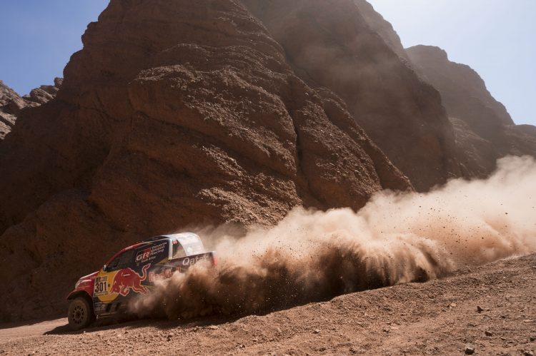Nasser Al-Attiyah (QAT) of Toyota Gazoo Racing SA races during stage 03 of Rally Dakar 2017 from Tucuman to Jujuy, Argentina on January 4, 2017