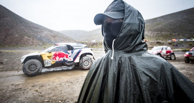 Cyril Despres (FRA) of Team Peugeot Total is seen at the start line of stage 05 of Rally Dakar 2017 from Tupiza, to Oruro, Bolivia January 06, 2017