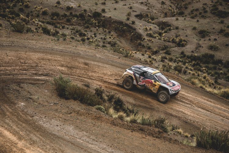 Stephane Peterhansel (FRA) of Team Peugeot TOTAL races during stage 5 of Rally Dakar 2017 from Tupiza to Oruro, Bolivia on January 6, 2017.