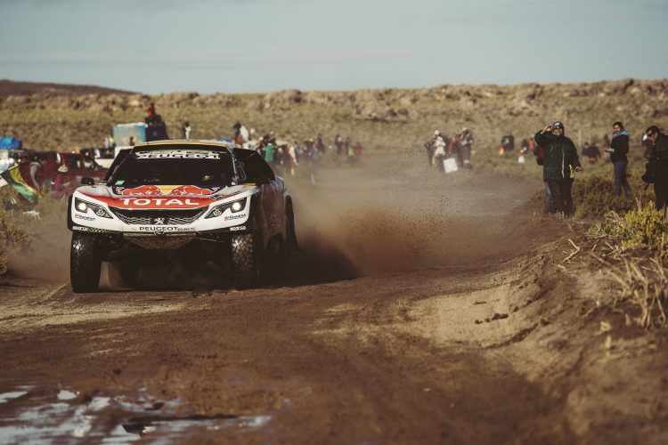 Stephane Peterhansel (FRA) of Team Peugeot TOTAL races during stage 8 of Rally Dakar 2017 from Uyuni, Bolivia to Salta, Argentina on January 10, 2017.