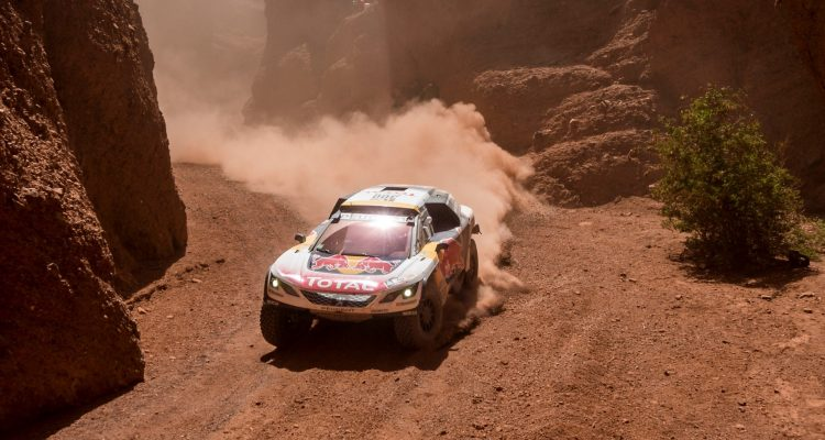 Stephane Peterhansel (FRA) of Team Peugeot Total races during stage 03 of Rally Dakar 2017 from Tucuman to Jujuy, Argentina on January 4, 2017