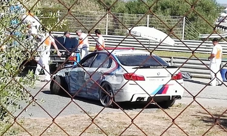 BMW-M5-crash-MotoGP-jerez