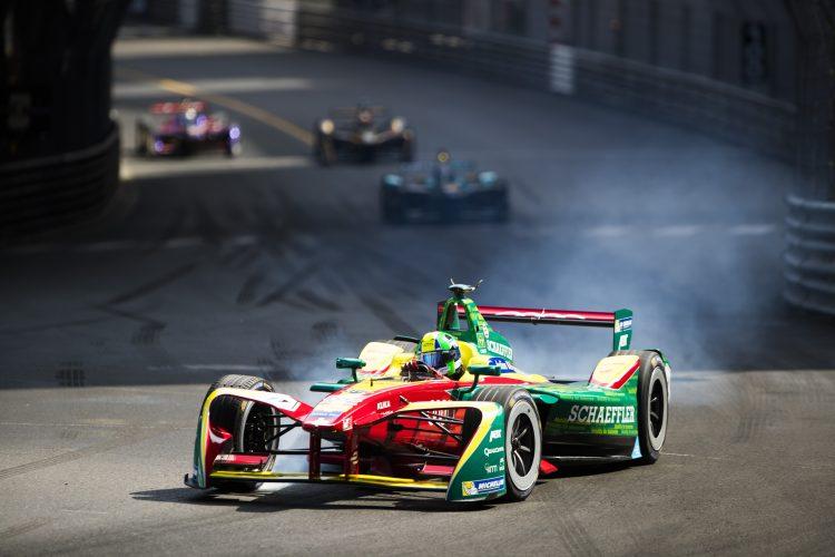 2016/2017 FIA Formula E Championship. Monte-Carlo, Monaco Saturday 13 May 2017. Lucas Di Grassi (BRA), ABT Schaeffler Audi Sport, Spark-Abt Sportsline, ABT Schaeffler FE02. Photo: Sam Bloxham/LAT/Formula E ref: Digital Image _J6I6589