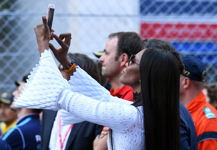 2016/2017 FIA Formula E Championship. Monte-Carlo, Monaco Saturday 13 May 2017. Naomi Campbell British supermodel Photo: Sam Bagnall/LAT/Formula E ref: Digital Image DSC_3122