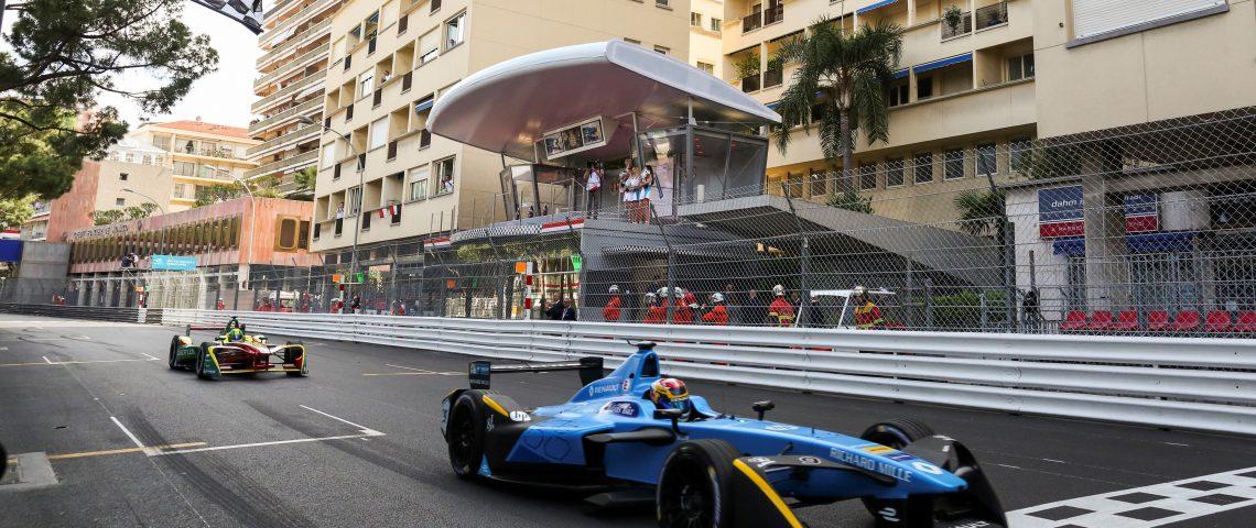 2016/2017 FIA Formula E Championship. Monte-Carlo, Monaco Saturday 13 May 2017. Sebastien Buemi (SUI), Renault e.Dams, Spark-Renault, Renault Z.E 16. Photo: Alastair Staley/LAT/Formula E ref: Digital Image 585A1174