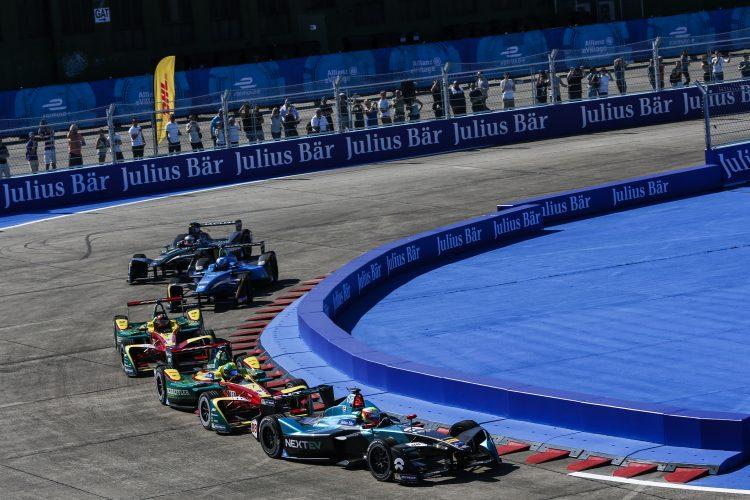 2016/2017 FIA Formula E Championship. Round 8 - Berlin ePrix, Tempelhof Airport, Berlin, Germany. Sunday 11 June 2017. Oliver Turvey (GBR), NextEV NIO, Spark-NEXTEV, NEXTEV TCR Formula 002. Photo: Alastair Staley/LAT/Formula E ref: Digital Image _X0W1252