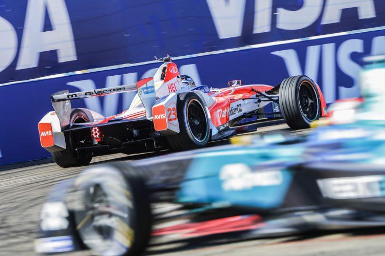 2016/2017 FIA Formula E Championship. Round 8 - Berlin ePrix, Tempelhof Airport, Berlin, Germany. Sunday 11 June 2017. Nick Heidfeld (GER), Mahindra Racing, Spark-Mahindra, Mahindra M3ELECTRO. Photo: Zak Mauger/LAT/Formula E ref: Digital Image _56I5518