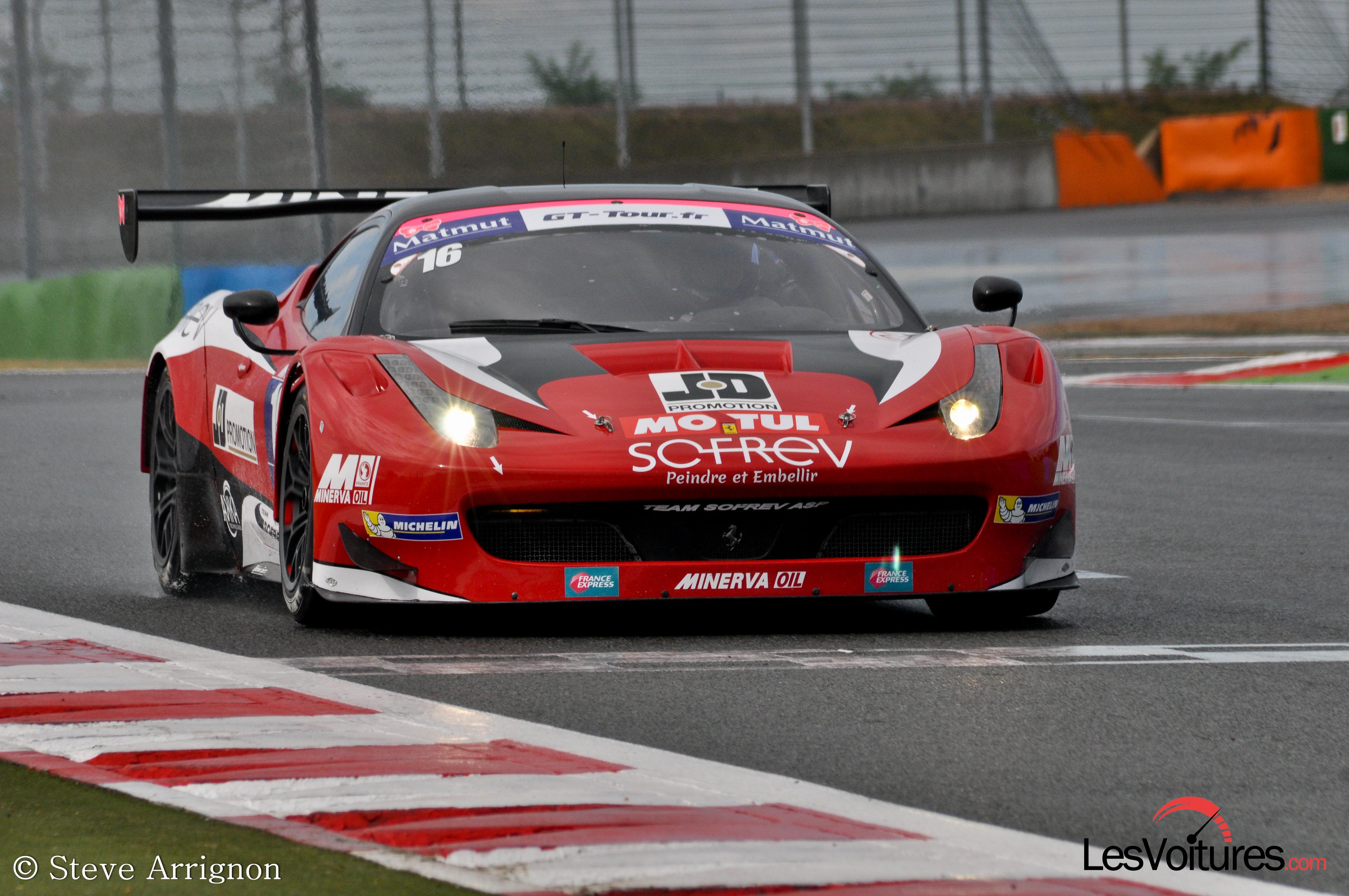 Gt Tour Magny Cours 2013 Ferrari F458 Gt3 Sofrev Asp