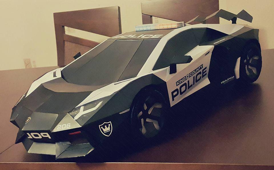 lamborghini aventador visual spicer supercar papercraft  les voitures
