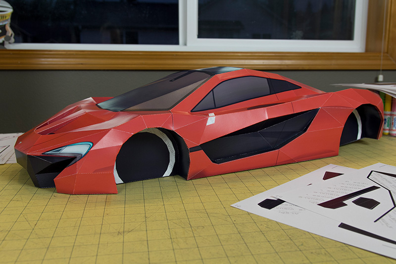 Mclaren P1 Visual Spicer Supercar Papercraft 6 Les Voitures