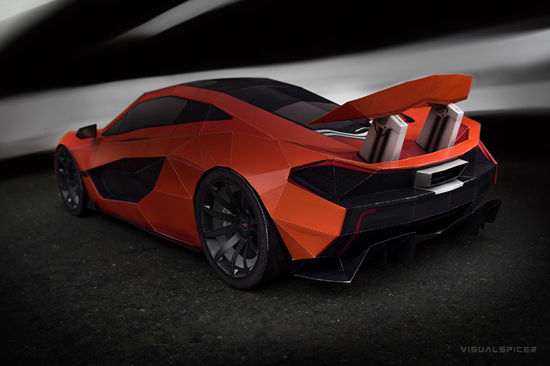 Mclaren P1 Visual Spicer Supercar Papercraft 99 Les Voitures