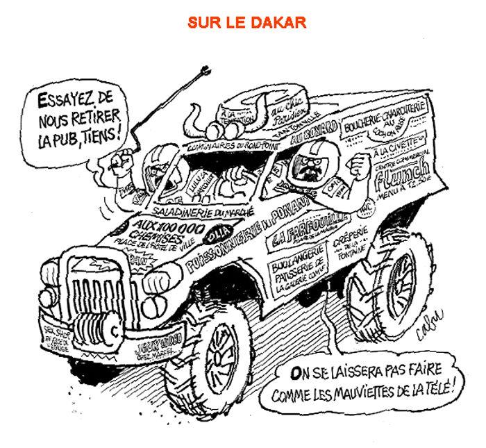 Dessin Cabu Voiture Dakar Les Voitures