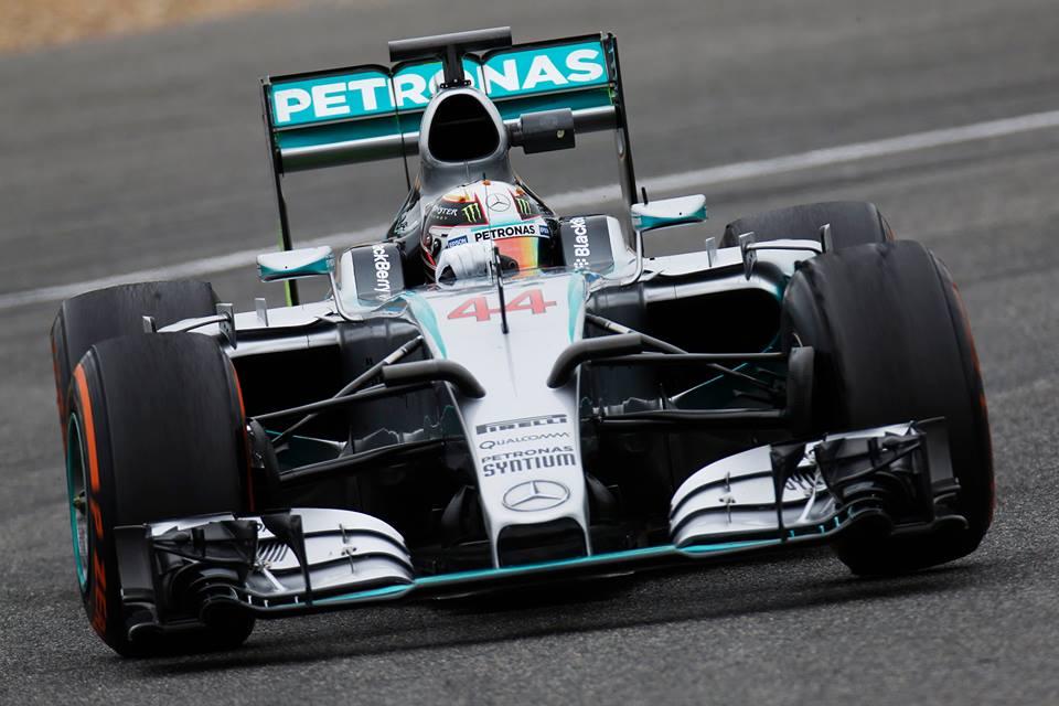 Lewis Hamilton Mercedes F1 2015 Test Jerez Les Voitures