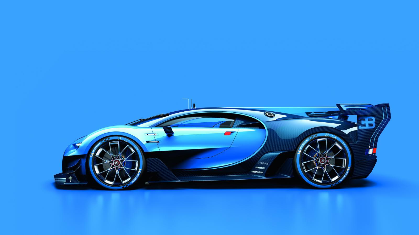 Race Car Side View Bugatti-Chiron-Vision-...