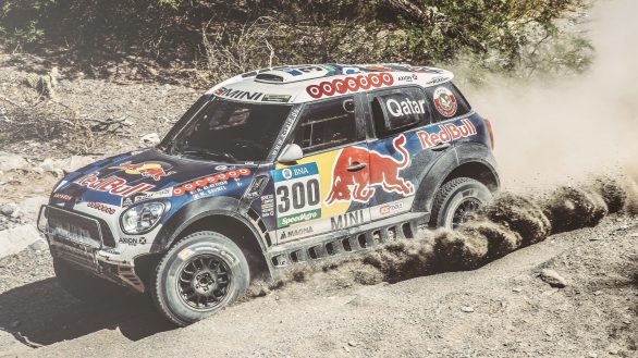 Nasser Al-Attiyah (QAT) from Axion X-Raid Team performs during stage 8 of Rally Dakar 2016 from Salta to Belen, Argentina on January 11, 2016.