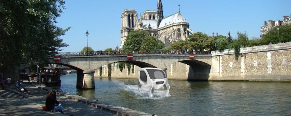 sea bubble la voiture aquatique bient t sur la seine paris les voitures. Black Bedroom Furniture Sets. Home Design Ideas