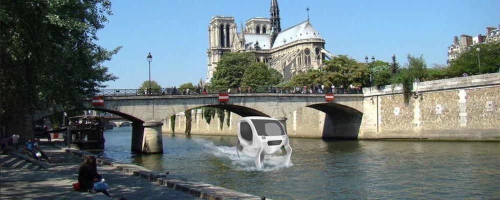 sea bubble la voiture aquatique bient t sur la seine paris les voitures. Black Bedroom Furniture Sets. Home Design Ideas
