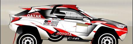 Dakar : le Toyota C-HR DKR imaginé par LesVoitures.com !