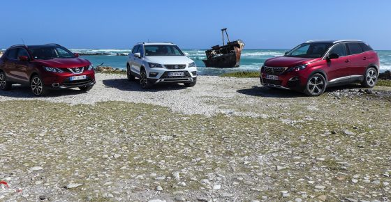 afrique-de-sud-road-trip-seat-ateca-peugeot-3008-Nissan-Qashqai