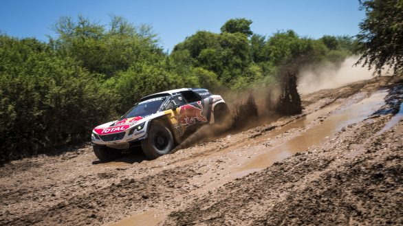 Sebastien Loeb (FRA) of Team Peugeot Total races during stage 02 of Rally Dakar 2017 from Resistencia to Tucuman, Argentina on January 3, 2017