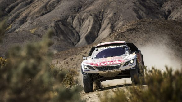 Cyril Despres  (FRA) of Team Peugeot TOTAL races during stage 4 of Rally Dakar 2017 from San Salvador de Jujuy, Argentina to Tupiza, Bolivia on January 5, 2017.