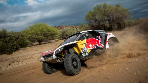 Sebastien Loeb (FRA) of Team Peugeot Total races during stage 11 of Rally Dakar 2017 from San Juan to Rio Cuarto, Argentina on January 13, 2017