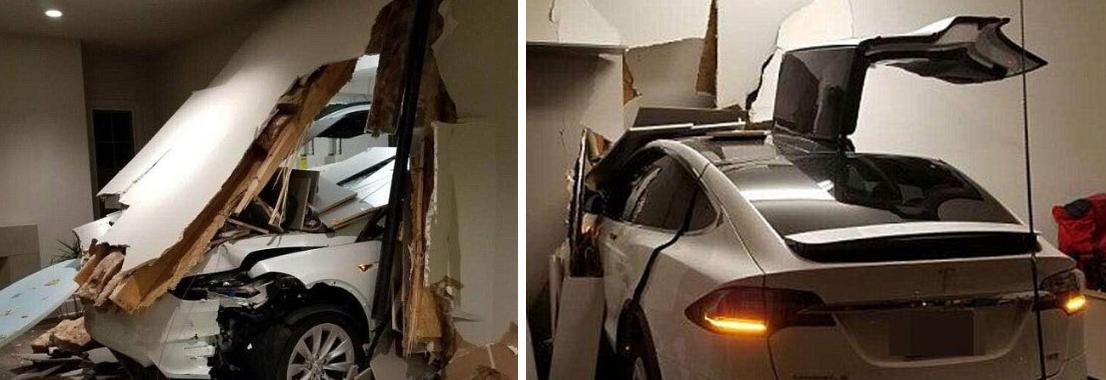 Tesla Model X : il détruit le SUV et une partie de sa maison