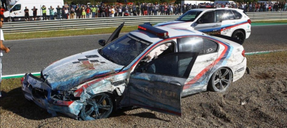 Bmw-m5-motogp-crash-jerez