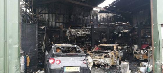 nissan-gt-r-fire-garage