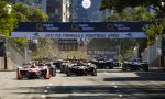 2016/2017 FIA Formula E Championship. Round 12 - Montreal ePrix, Canada Sunday 30 July 2017. Felix Rosenqvist (SWE), Mahindra Racing, Spark-Mahindra, Mahindra M3ELECTRO, leads at the start of the race. Photo: Patrik Lundin/LAT/Formula E ref: Digital Image PL1_3428