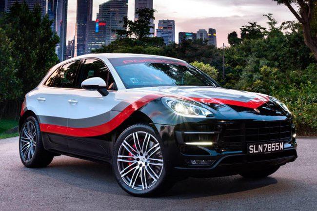 porsche macan turbo pack performance une livr e 919 hybrid en asie les voitures. Black Bedroom Furniture Sets. Home Design Ideas