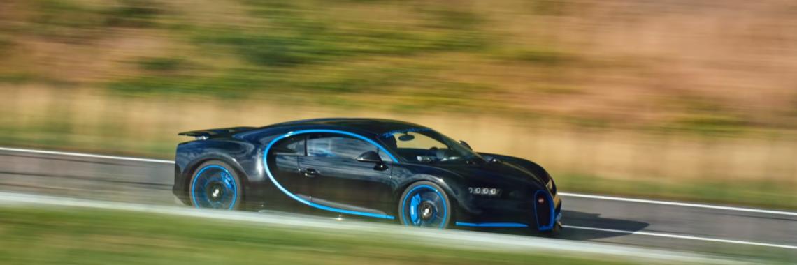 Vidéo : la Bugatti Chiron de 0 à 400 km/h puis 0 km/h en 42 s, World Record !