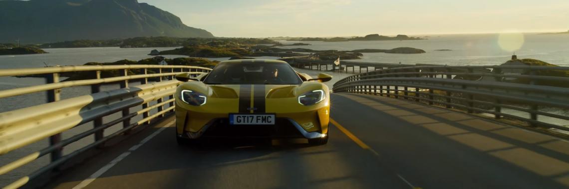 Vidéo : la Ford GT sur l'impressionnante route de l'Atlantique