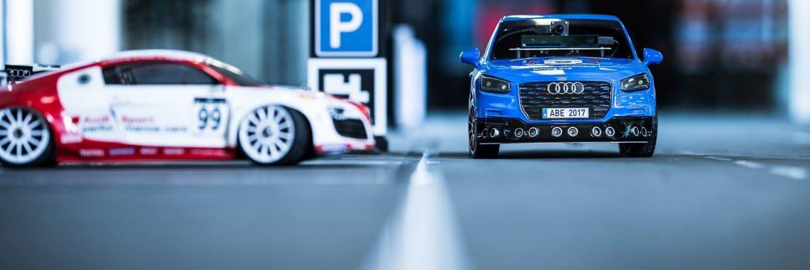 Audi Autonomous Driving Cup : des mini-Q2 «jouent» à l'avenir de l'automobile