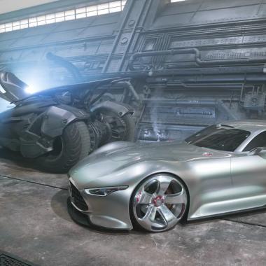 Vidéo : la Mercedes-Benz AMG Vision Gran Turismo star de «Justice League»