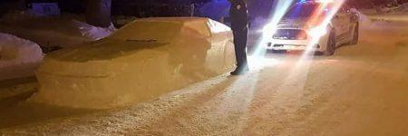 Canada : une fausse voiture sculptée se prend presque un PV
