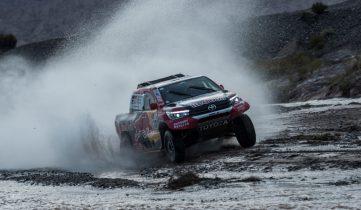 Nasser Al-Attiyah (QAT) of Toyota Gazoo Racing SA races during stage 12 of Rally Dakar 2018 from Chilecito to San Juan, Argentina on January 18, 2018