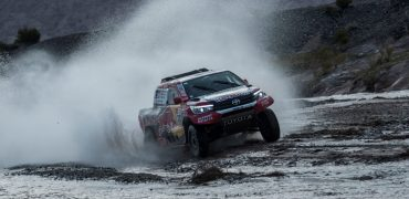 Nasser Al-Attiyah (QAT) of Toyota Gazoo Racing SA races during stage 12 of Rally Dakar 2018 from Chilecito to San Juan, Argentina on January 18, 2018