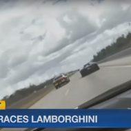 USA : un policier fait la course contre une Lamborghini (vidéo)