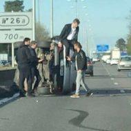 Gironde : «cascade» d'Arnaud Montebourg sur l'A63