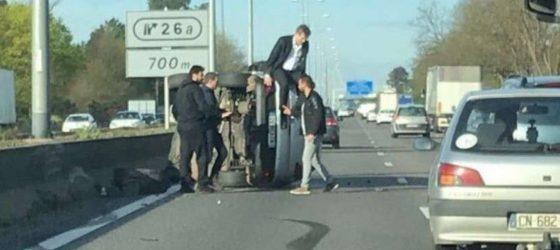 arnaud-montebourg-accident-A63