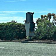 Radar : une poubelle en guise de cache objectif