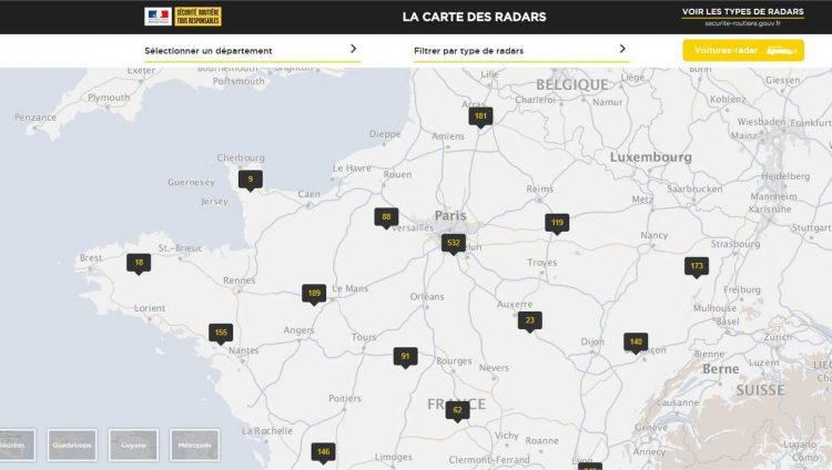 radars l 39 etat met en ligne la carte officielle des radars fixes les voitures. Black Bedroom Furniture Sets. Home Design Ideas