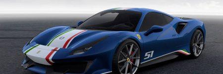 Ferrari 488 Pista Piloti Ferrari : encore plus belle en bleu Tour de France