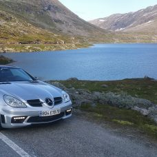 Mercedes-Benz SLK 55 AMG : roadtrip «un taxi pour l'aventure»