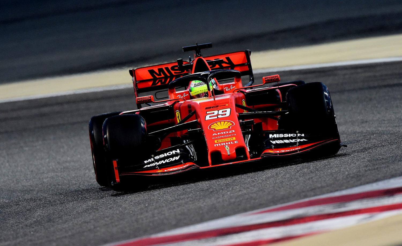 Mick Schumacher Test Ferrari F Bahrein X