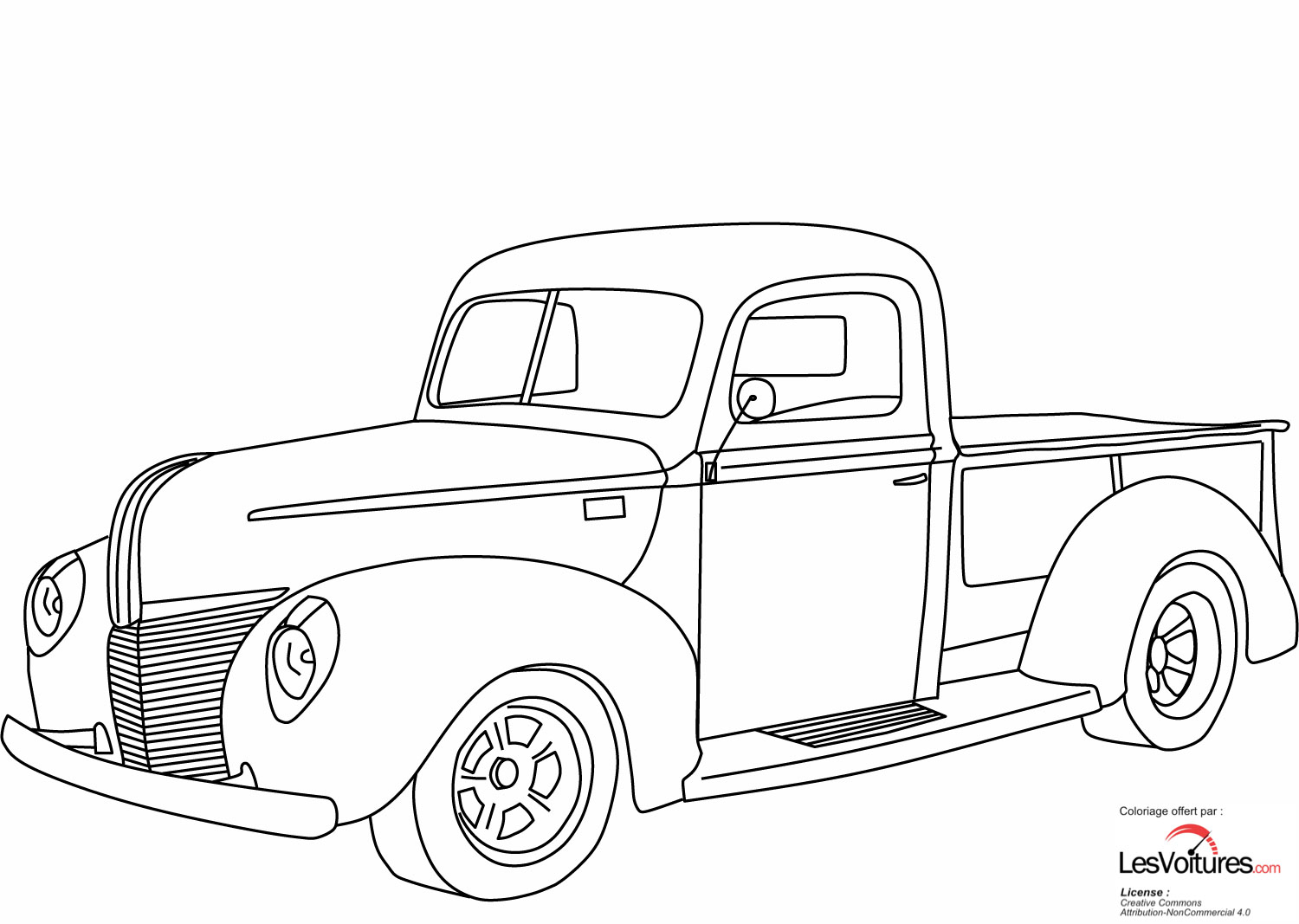 1940 Ford Pickup Coloriage Voiture Les Voitures