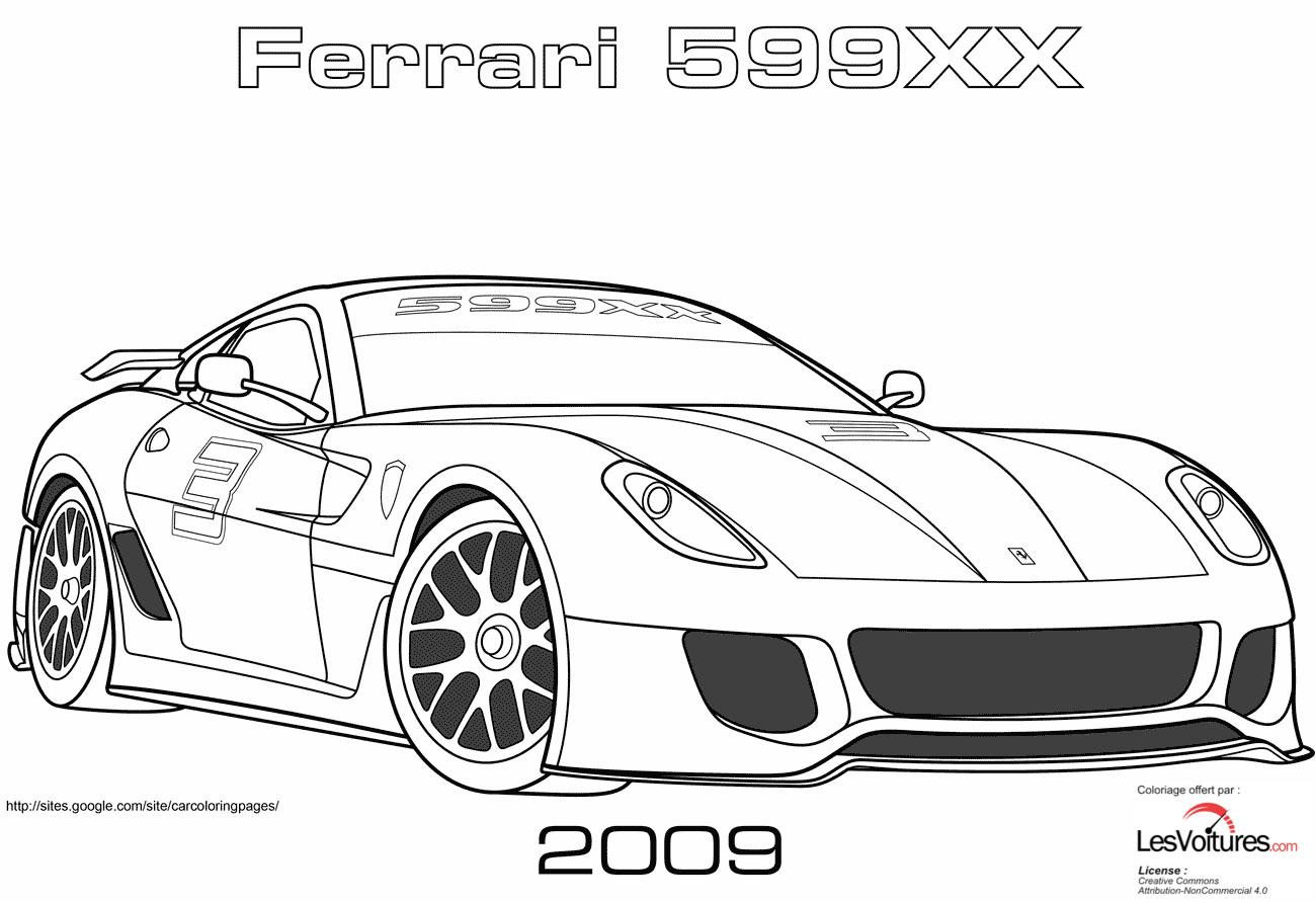2009 Ferrari 599xx Coloriage Voiture Les Voitures