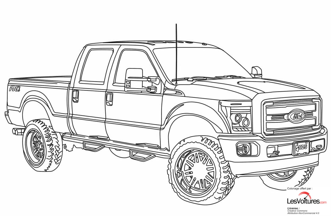 2014 Ford F250 Lifted Coloriage Voiture Les Voitures