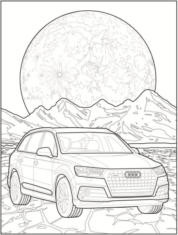 Audi Telechargez Un Beau Cahier De Coloriage Les Voitures